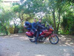 moto tout équipée et chargée