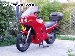 Le carenage installé sur ma moto