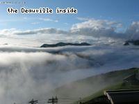 Lever de soleil sur Superbagnère, nous sommes au dessus d une mer de nuages
